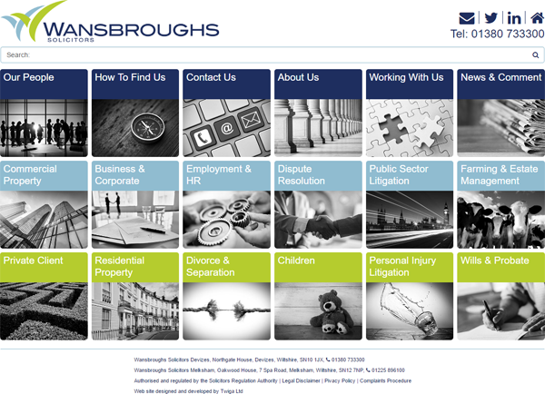 Wansbroughs Solicitors web site